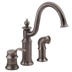 Moen Waterhill High Arc Single Handle Standard Kitchen Faucet With