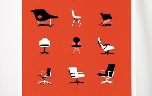 Eames Chairs graphic design advertising graphic banner Illustrations| http://graphic-design-ricardo.blogspot.com