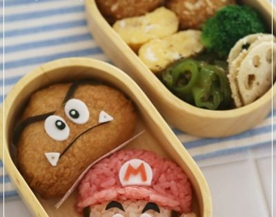 Super Mario bento This is first time to see!! japanese_lunch_box bento japan