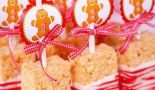 Cute holiday ideas - To make the Rice Krispie Treats, start with