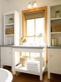 Removable Furniture With Matching Counter Tops In Front Of Low Windows Kitchen Window Kitchen Design Kitchen Layout