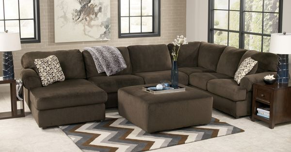 Plush Contemporary 3 Piece Sectional With Left Facing Chaise Find Livingroom Sets At Www