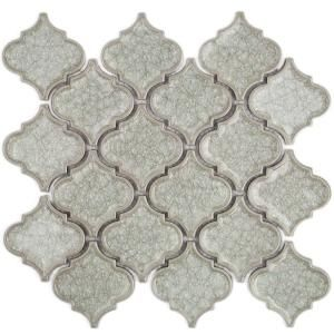 Ivy Hill Tile Roman Selection Iced White Lantern 9 3 4 In X 10 1