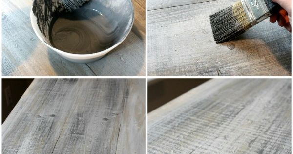 DIY painting | Faux Barn Wood Painting tutorial - making weathered barnboard