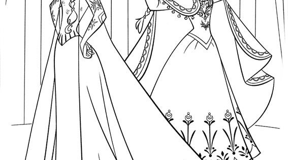 Dibujos Para Colorear De La Princesa Elsa: Imagen De Elsa Frozen Para Colorear