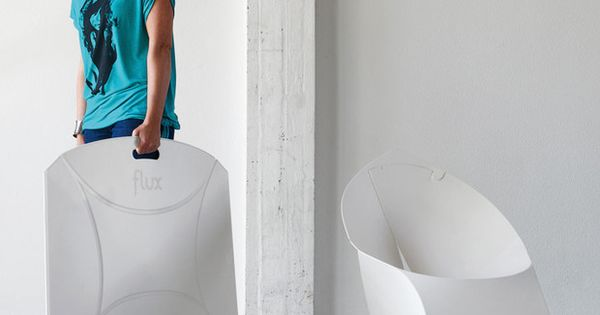 The Flux Chair. Not only are they easier to stack and store,