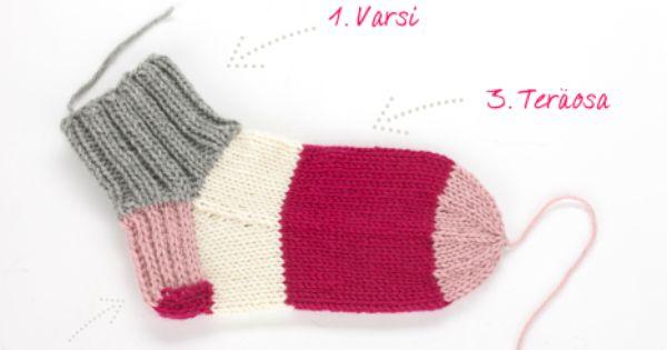 Knitting Slippers For Dummies : Villasukka ohjevideo http kodinkuvalehti fi