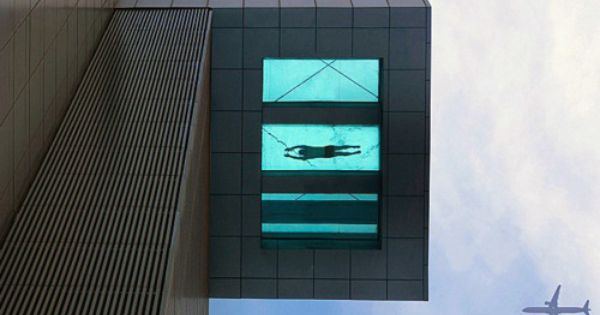 Glass Bottom Pool at the The Holiday Inn Shanghai... noted