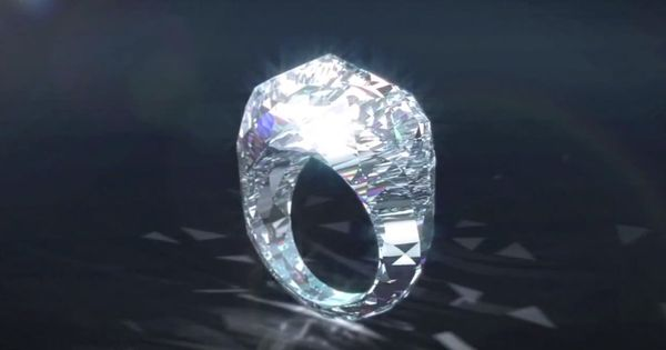 The world's first all diamond ring! Swiss jewelry company Shawish has created