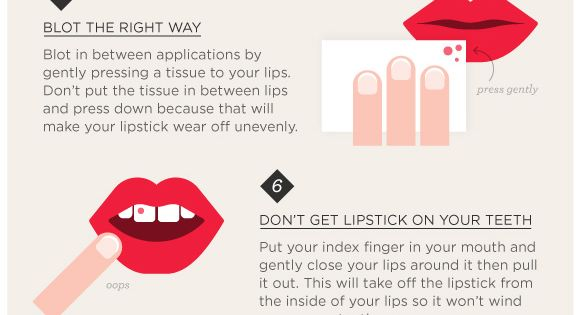 The Ten Commandments of Lipstick tips beauty DIY doityourself tutorial stepbystep howto