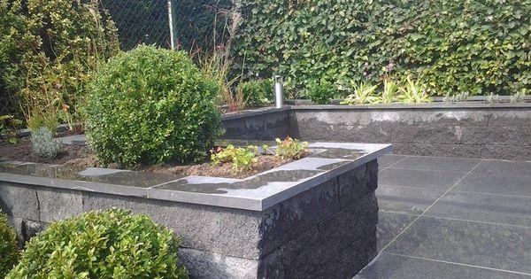 Project herten strakke tuin met keramische tegels en verhoogde borders cox hoveniers pinterest - Terras rand idee ...