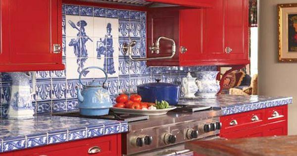 Best Red White Blue Kitchen Kitchen Backsplash Countertops 640 x 480