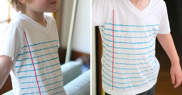 notebook paper shirt. just... yes.