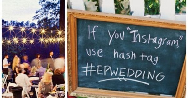 Instagram wedding pictures! This is a great idea so you can see