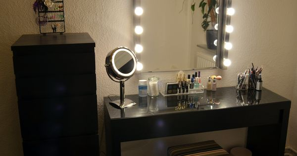 Vanity Mirror With Lights And Storage : Ikea Malm Vanity, Ikea Kolja Mirror, Ikea Musik Vanity lights, Ikea Malm Dresser, OBH Nordica ...