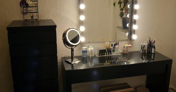 Vanity Mirror With Lights Pinterest : Ikea Malm Vanity, Ikea Kolja Mirror, Ikea Musik Vanity lights, Ikea Malm Dresser, OBH Nordica ...