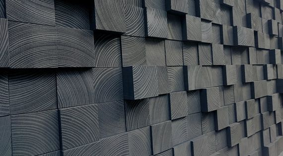 Madera mosaico de madera de la pared arte cabecero por - Mosaico de madera ...