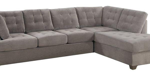 2pc sectional sofa with reversible chaise in for Amazon sectional sofa with chaise