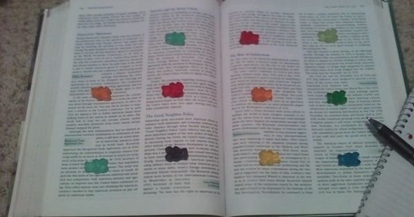studying incentive, when you reach a gummy bear, you get to eat