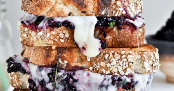 (vía Fontina Blackberry Basil Smash Grilled Cheese | How Sweet It Is)