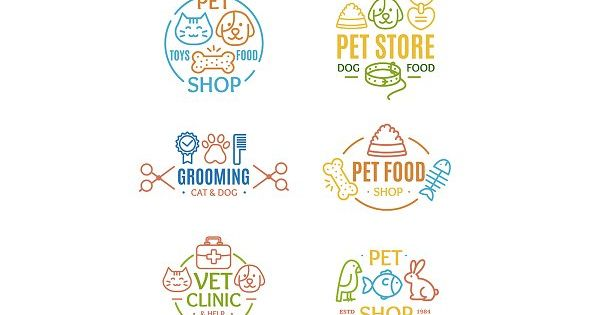 Pet Shop Badges or Labels by Stacy on @creativemarket