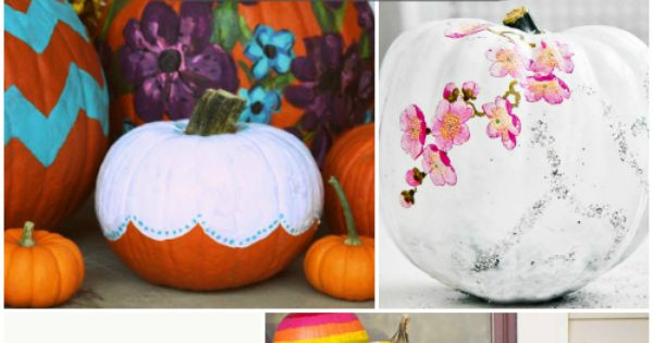 painting pumpkins > carving pumpkins