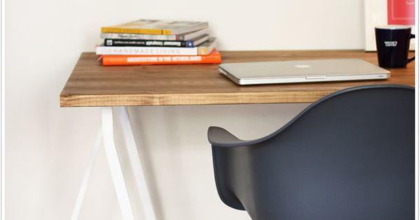 diy schreibtisch holz bock ikea kiefer blogs pinterest discover more ideas about. Black Bedroom Furniture Sets. Home Design Ideas