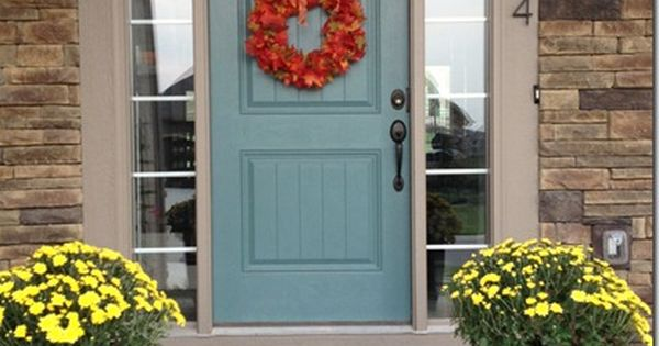 Front Door Valspar Woodlawn Juniper In Semi Gloss Front