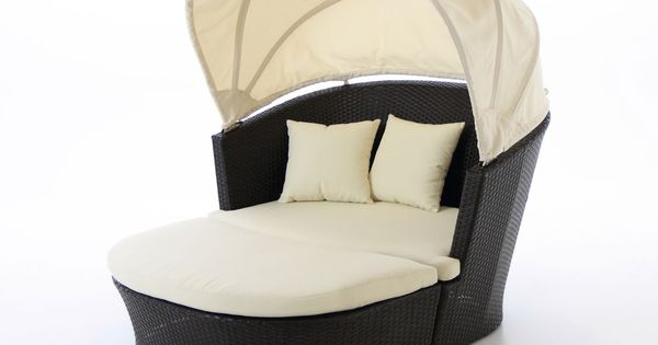 Casual backyard furniture...Serenity 2 Piece Circle Lounge with Canopy.