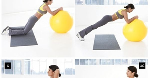 Stability Ball Abs Exercises - maybe to change up my ab workout