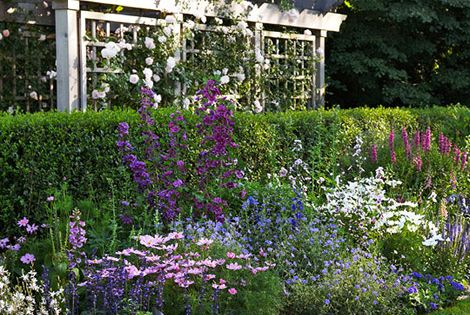 Garden Retreat .. cottage garden landscaping ideas and decor - Traditional Home®