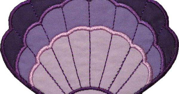 Clam Shell Applique By Happyapplique Com Kitchen Drawer
