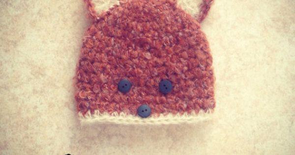 fox beanie hat. Newborn. Great by cheekychumy, £15.00 | {My crochet ...