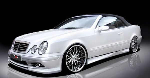 mercedes clk w208 spoiler set body kit tuning umbau neu. Black Bedroom Furniture Sets. Home Design Ideas