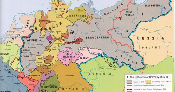 Map: Unification of Germany 1815-71