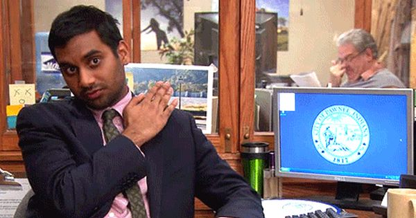 Wipe Shoulders From Parks Rec Parks And Recreation Parks And Recreation Gifs Good Jokes