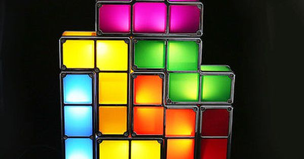 New Diy Tetris Constructible Retro Game Stackable Led Desk Light Table Lamp With Images Led Desk Lamp Desk Lamp Diy Lamp
