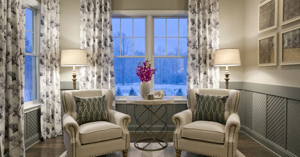 Sitting Area Estates At Cohasset By Toll Brothers Interior Design By Mary Cook Associates