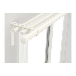 Racka Hugad Triple Curtain Rod Combination White 82 5 8 151 5