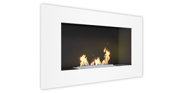 Vauni Edge (Wall) Ethanol Fireplace Version: White  3D Artwork Vauni ...