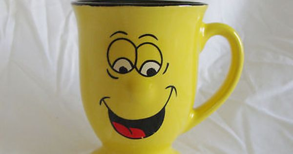 Funny Face Coffee Mug Cup 3d Protruding Nose Footed Goofy