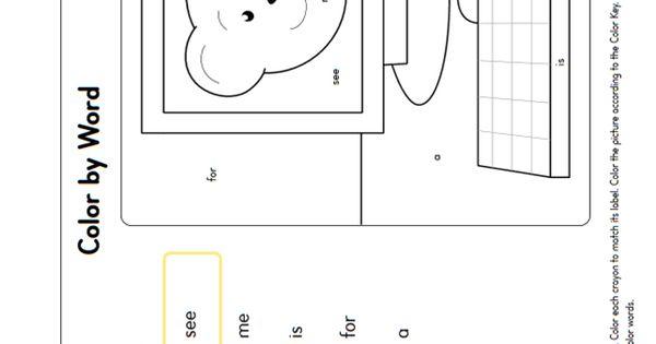 word coloring page generator - kindergarten color by word worksheet generator k rf 3
