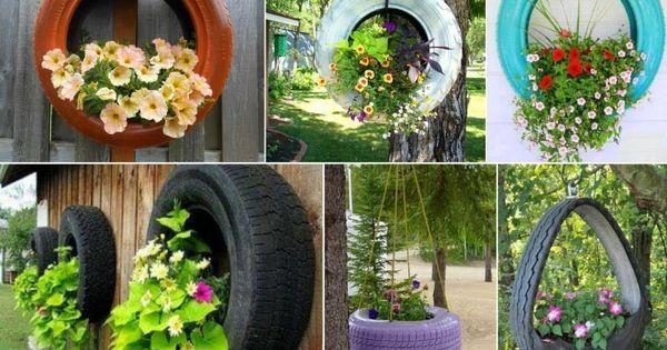 Decoracion trendy macetas para jard n con llantas viejas for Ideas para mi jardin