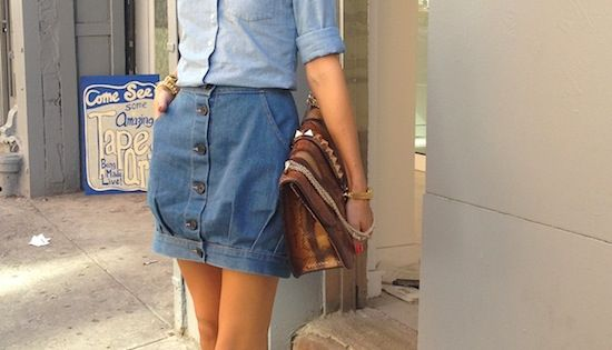 olivia palermo in double denim