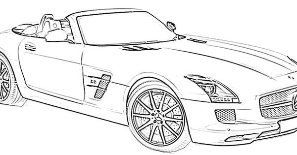 Mercedes Benz Sport Coloring Page Mercedes Car Coloring