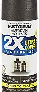 Amazon Com Rust Oleum 327906 American Accents Ultra Cover 2x Metallic Each Oil Rubbed Bronze H Restoration Hardware Lighting Cage Light Restoration Hardware