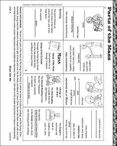 Parts Of The Catholic Mass Worksheet Pdf : parts, catholic, worksheet, Sunday, School