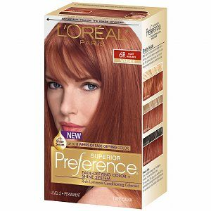 L Oreal Preference 6r Light Auburn Light Auburn Hair Light Auburn Hair Color
