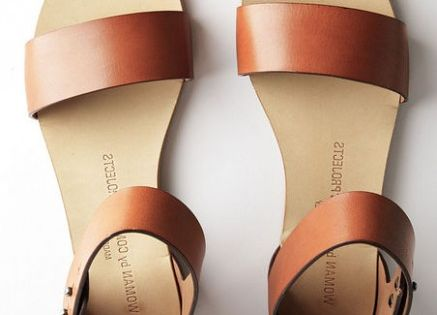 classic leather sandals - WOMEN by Common Projects
