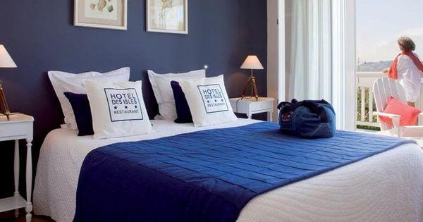 Photo deco chambre blanc bord de mer h tel bord de mer - Chambre bleu blanc rouge ...